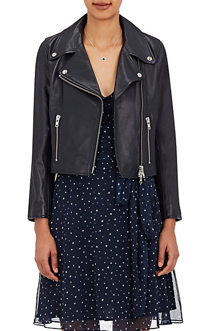Barneys Jennifer Meyer Cropped Moto Jacket