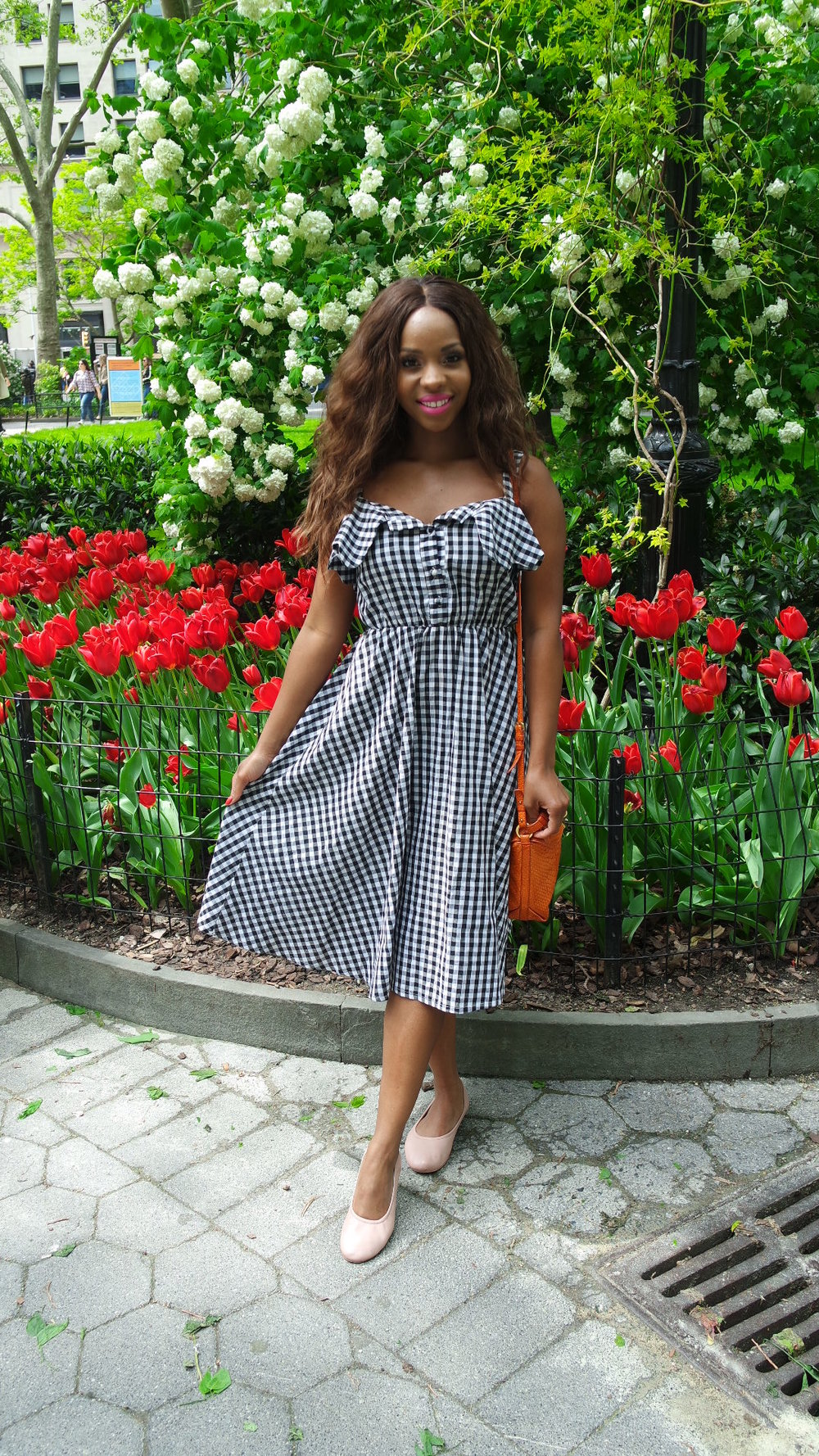 Gingham Dress Summer Park