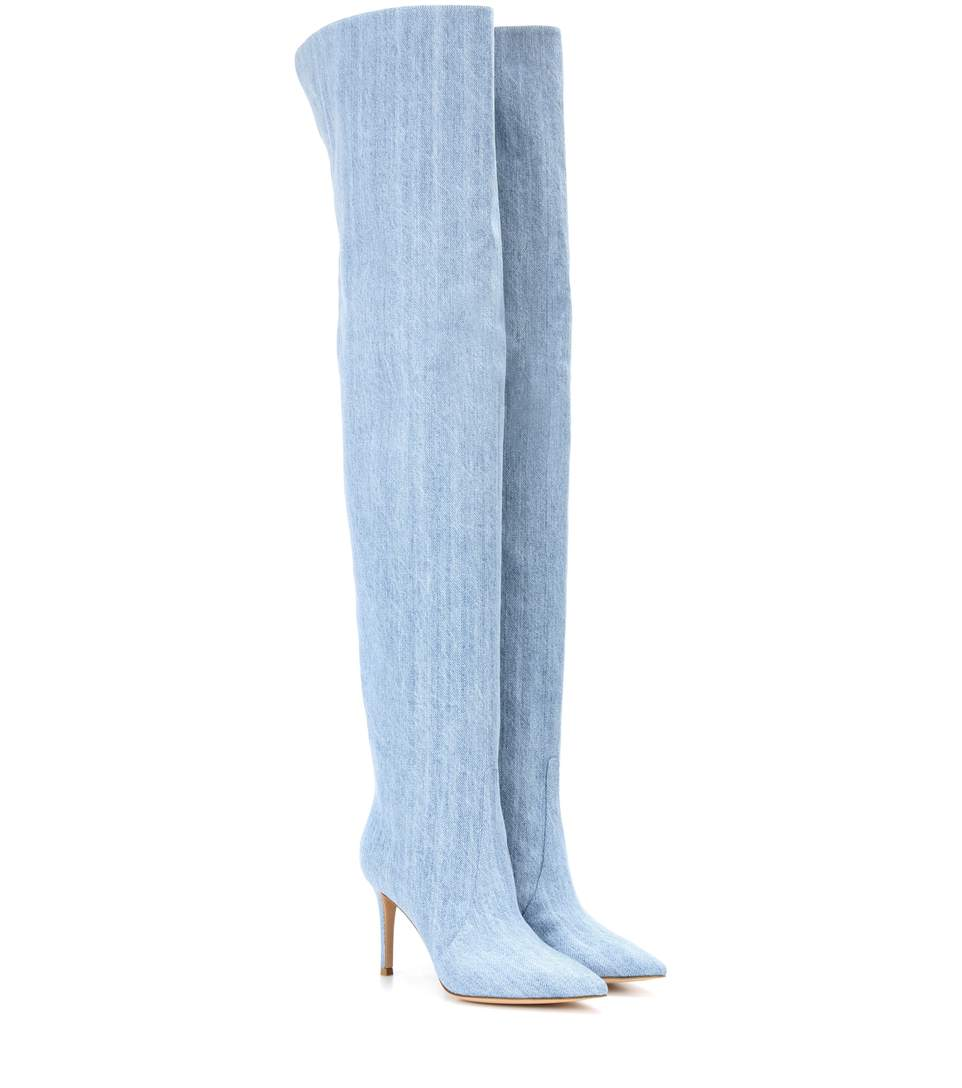Gianvito Rossi Over the Knee Denim Boots.jpg