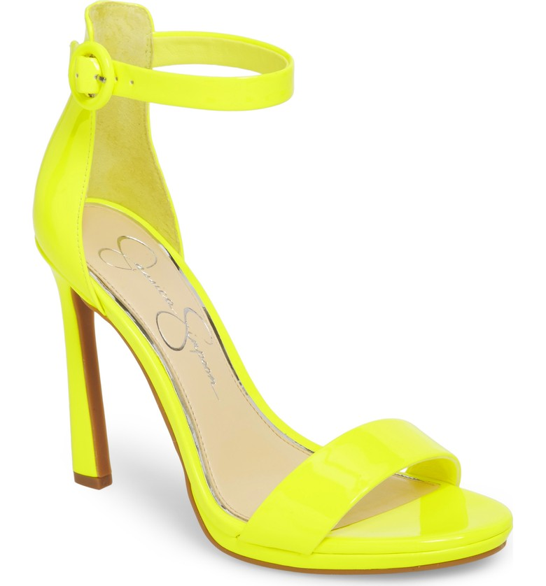 Jessica Simpson Neon Yellow Strappy Sandals.jpg