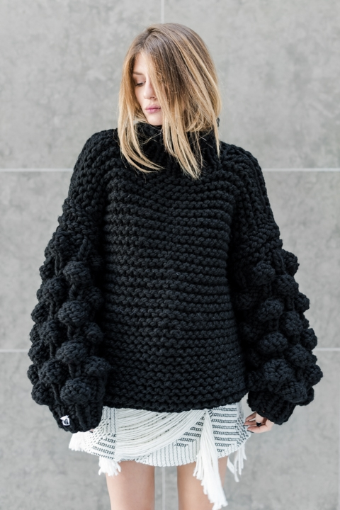 Mums Handmade Knit Sweater Dress.jpg