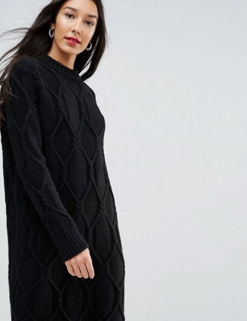 Asos Cable Knit Sweater Dress.JPG