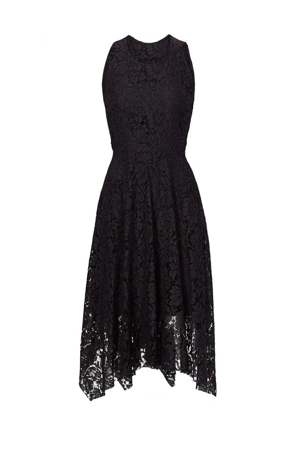 Black lace Handkerchief Hem Dress.jpg