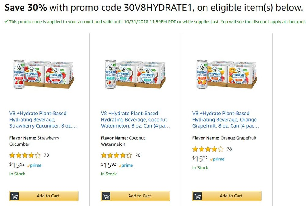 Amazon V8 Promo code.JPG