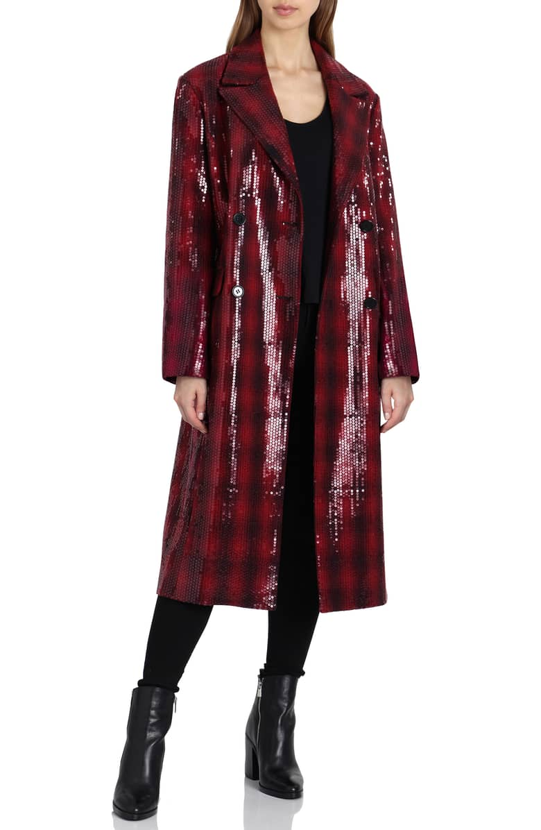 Sequin Plaid Double Breasted Coat.jpeg