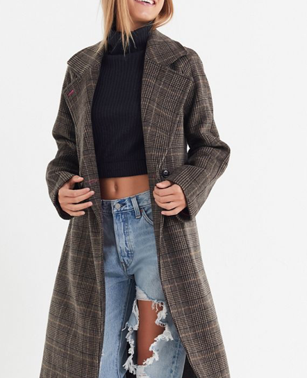 Urban Outfitters Plaid Coat
