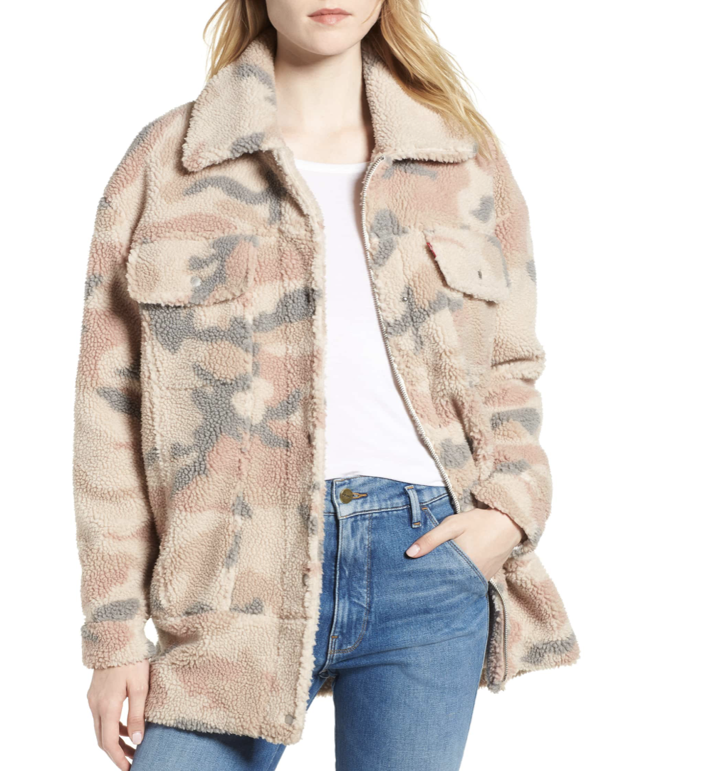 Levi's Camo Printed Trucker Coat