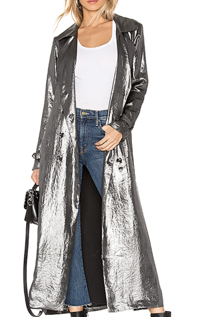 HOUSE OF HARLOW 1960 X REVOLVE LUCIANA JACKET IN SILVER