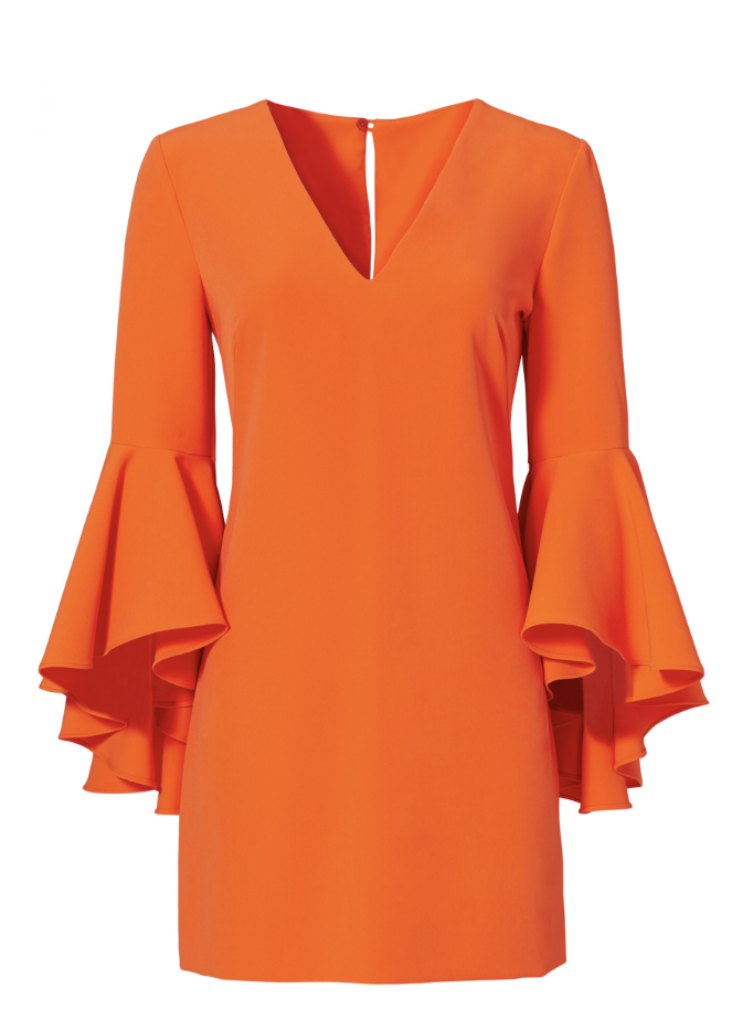 MILLY ORANGE ITALIAN NICOLE DRESS