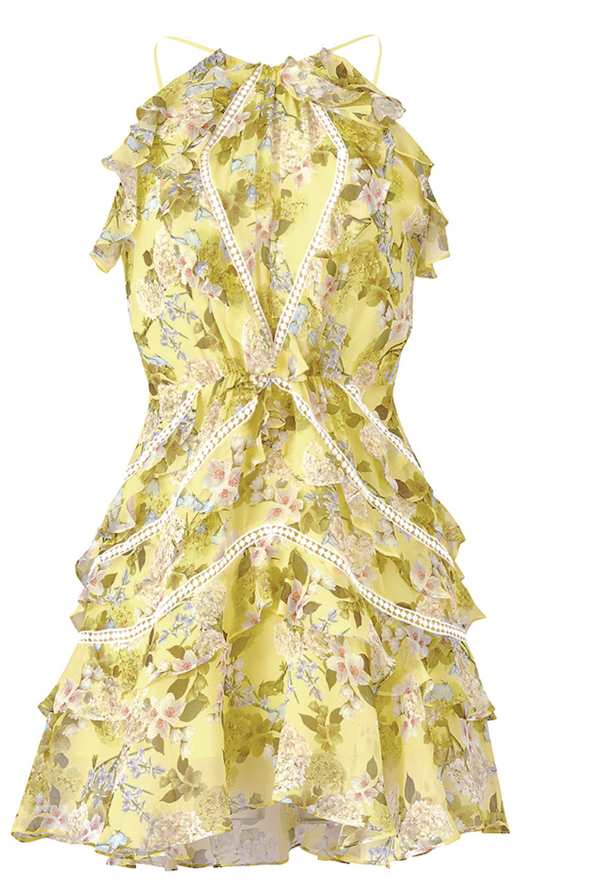MARISSA WEBB FLORAL ANDREA DRESS