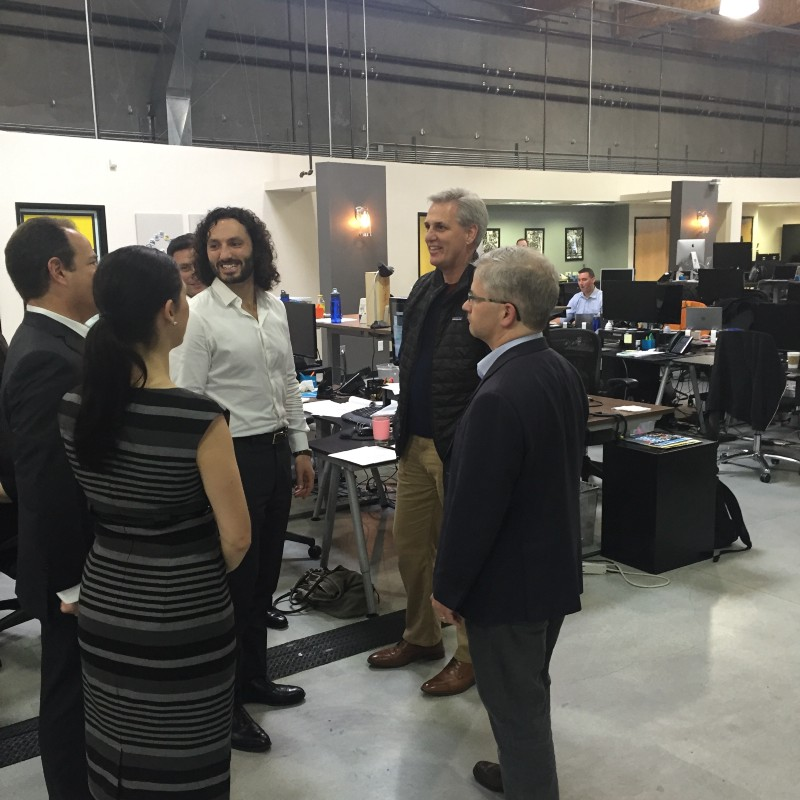 Majority Leader Kevin McCarthy and Chief Deputy Whip Patrick McHenry meet with OpenGov during a trip to Silicon Valley to discuss their Innovation Initiative