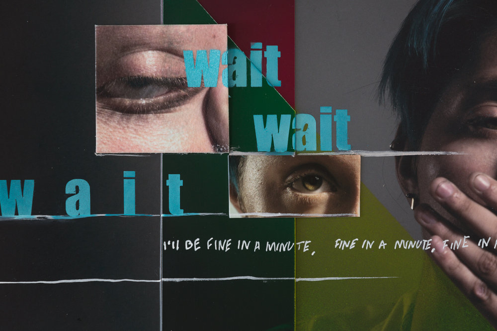 """wait, wait, wait, i'll be fine in a minutes"" #3 detail"