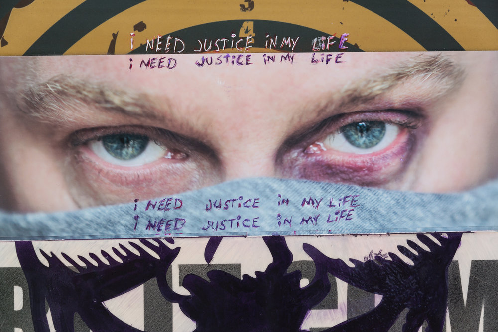 """i need justice in my life"" -  detail"
