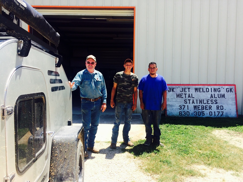 From left to right, Bubba, Duke and Jeremy from Jet Welding