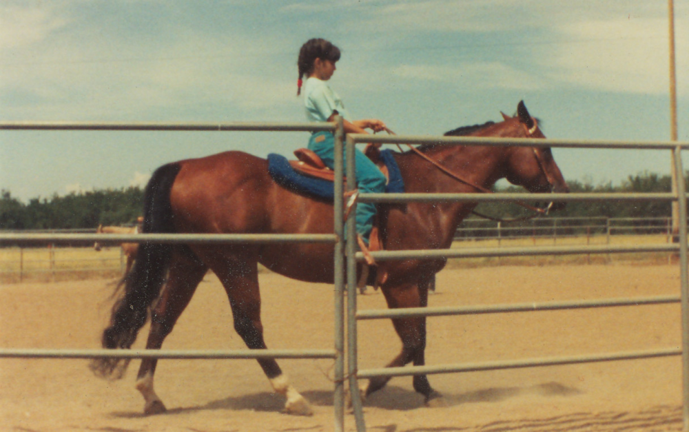Sara & her horse Patrick at Horse Camp in Vina, California.