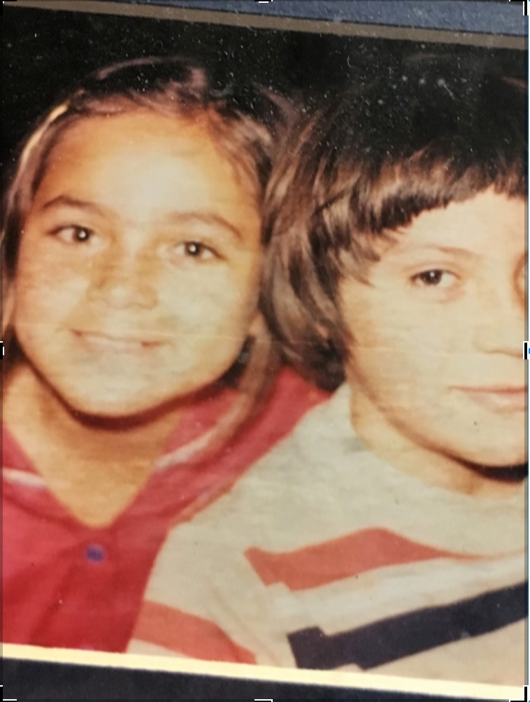 Yolanda del Carmen Vasquez (left, age 7) and brother Wilfredo Antonio Vasquez (right, age 8). This photo was taken a year after being sent to the United States.
