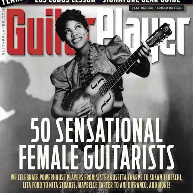 So happy and grateful to be included in the cover story for the May issue in Guitar Player Magazine.  It's an honor to be among these fantastic and inspiring women ! Thank you to Michael Molenda,  Art Thompson and everybody at Guitar Player Magazine!! #guitarplayermagazine #guitarplayer