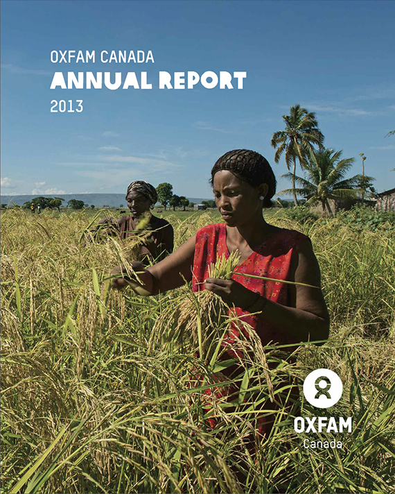 Oxfam Canada Annual Report Cover Shot