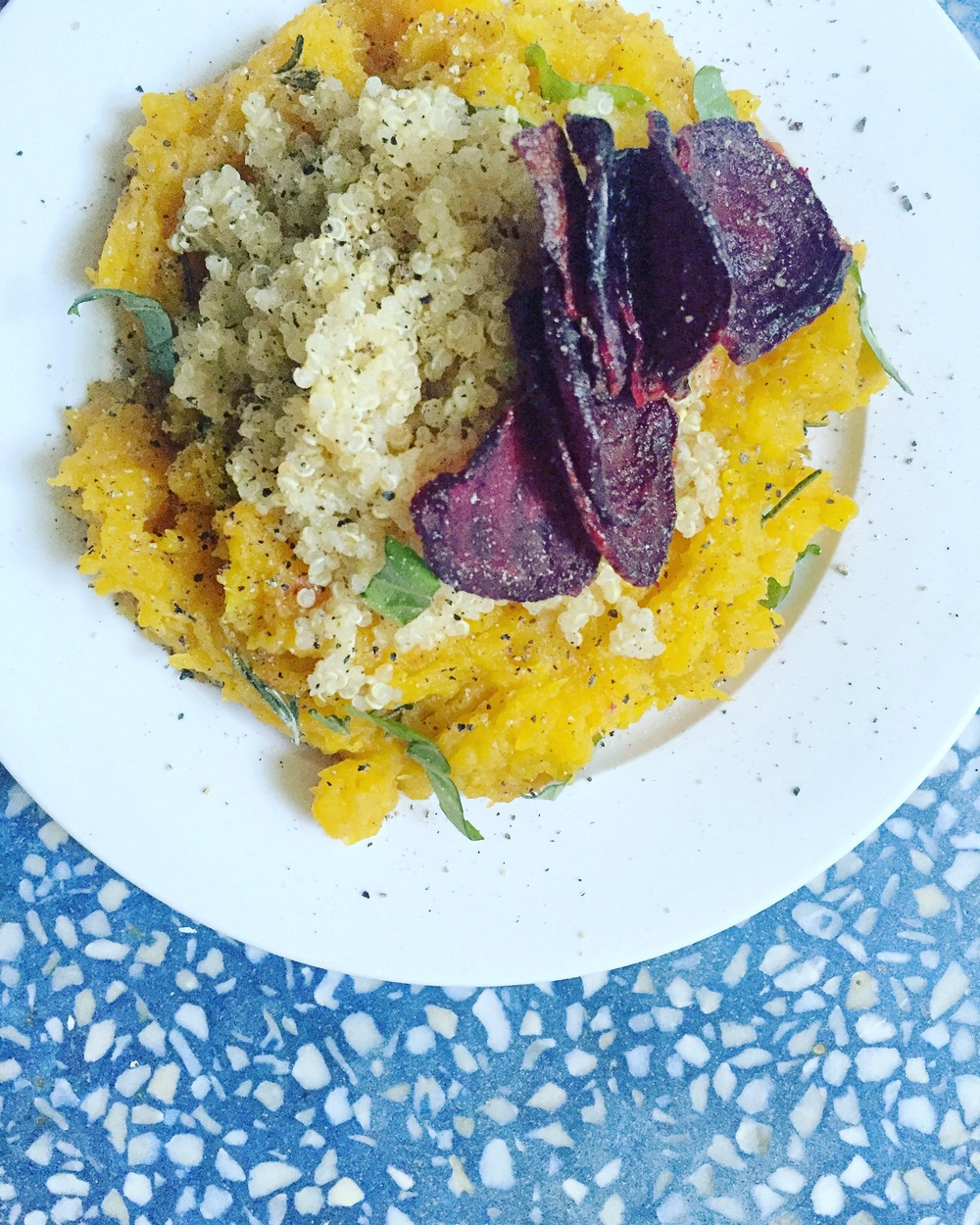 butternut squash quinoa and rosemary