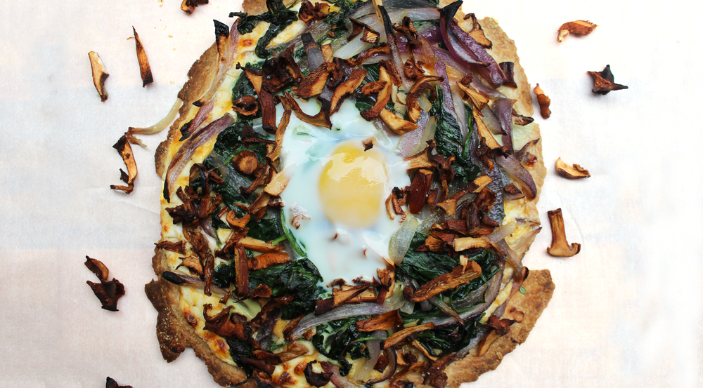 wild chanterelle breakfast tart mushrooms