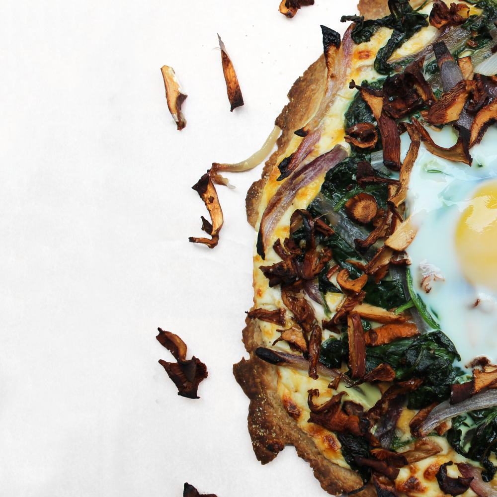 wild chanterelle breakfast tart
