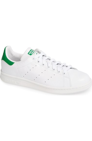 Stan Smith Adidas with green detailing
