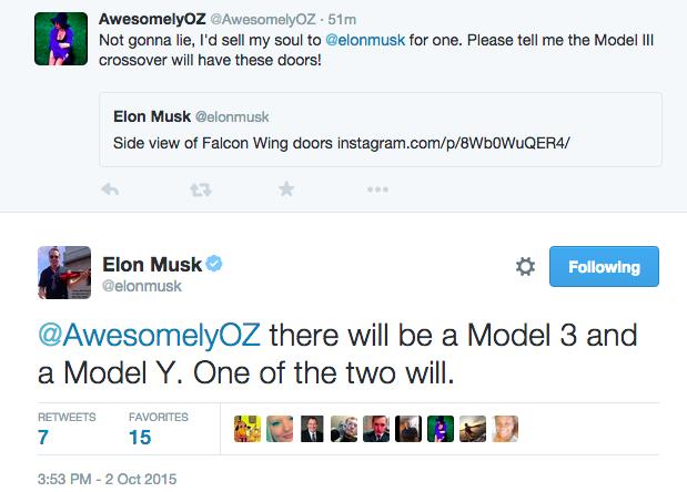 Elon musk Tweets model 3 & model y
