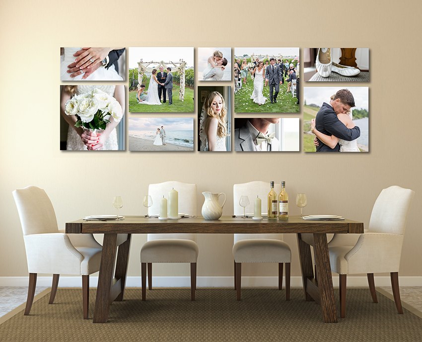 There are so many beautiful ways to display and enjoy your wedding photos.  Let your imagination run wild!