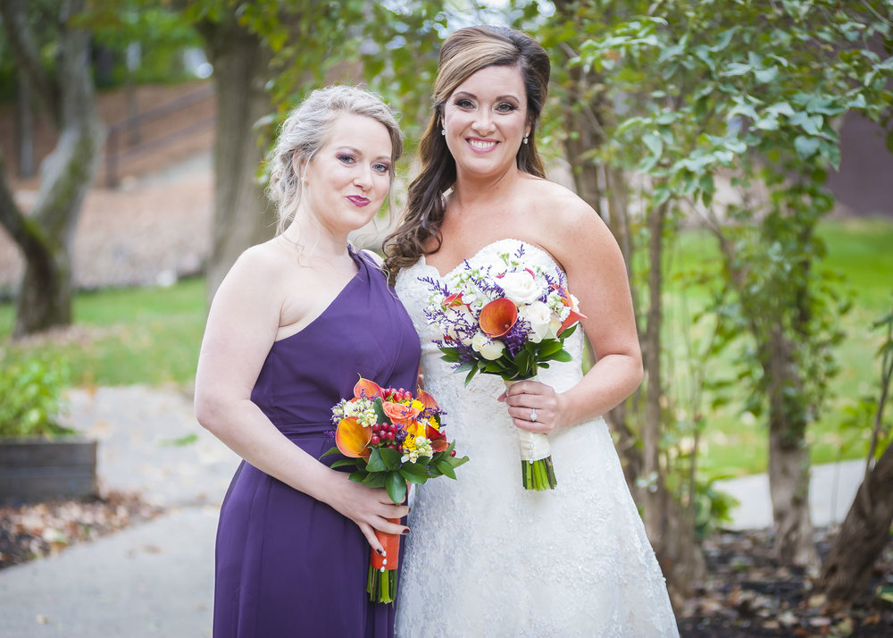 The bride and her maid-of-honor