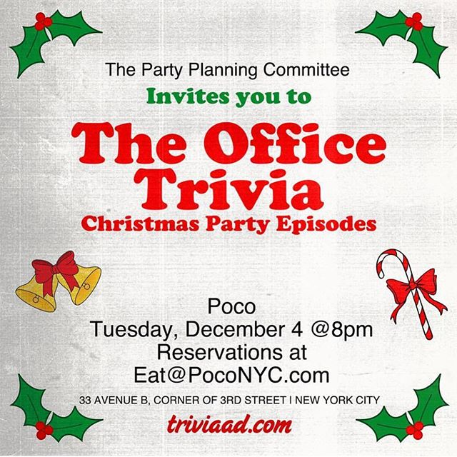JOIN US! #theoffice #trivia #poconyc
