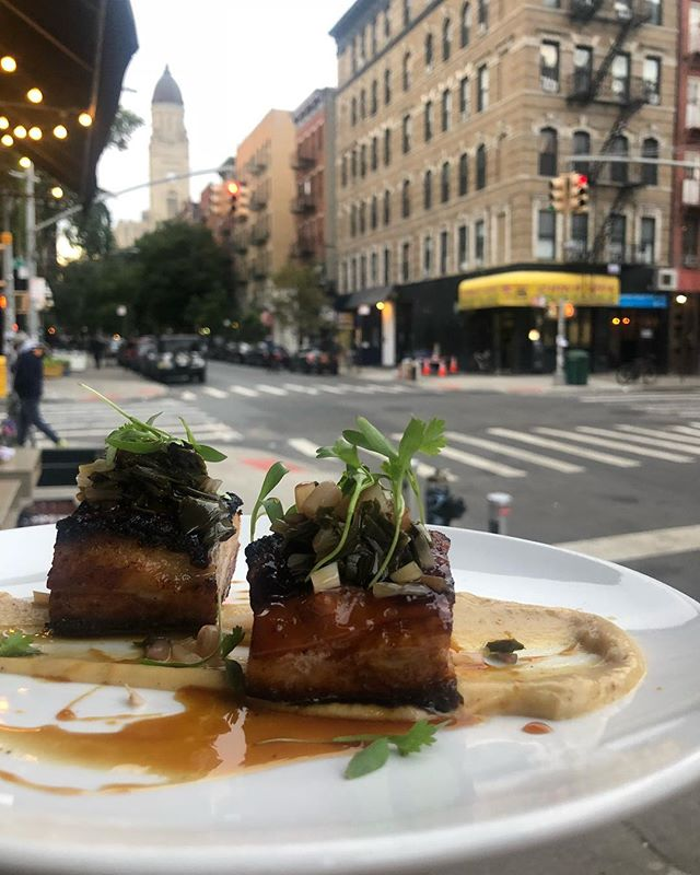 We love our neighborhood, and pork belly 🤤. Come in for dinner Tuesday- Sunday for some delicious tapas and tasty drinks.  Whatcha waiting for? #poconyc #porkbelly #les #alphabetcity #nycfood