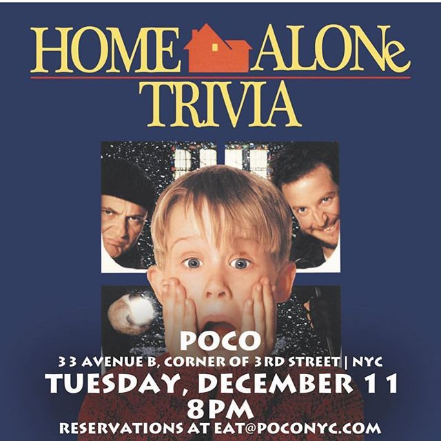 WE ARE SO READY FOR THIS CLASSIC! Come in and battle it out with the rest of the die hard home alone fans! So excited to see everyone there! #triviaad #poconyc #homealonemovie #lesnyc