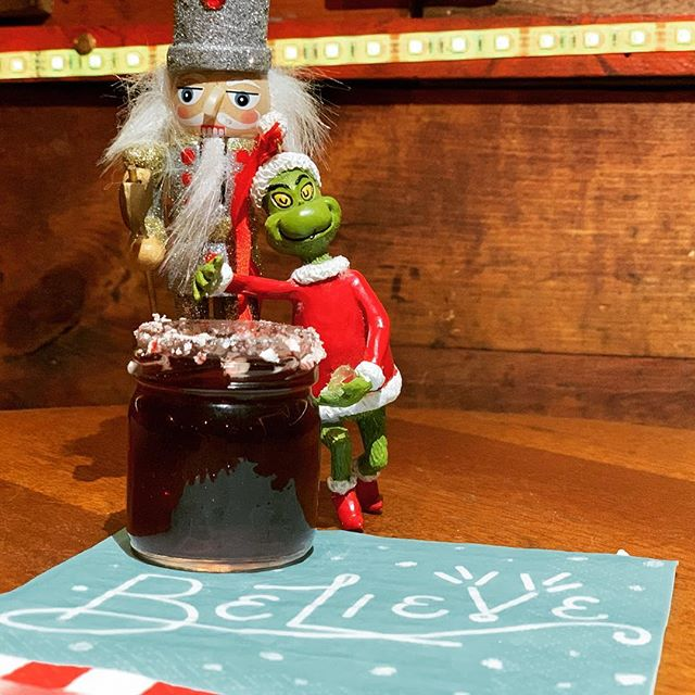 For someone who hates Christmas, he approves of our peppermint pomegranate shot special! Come by anytime this week and indulge with us! #peppermintshots #poconyc #tapas #cocktails #shots