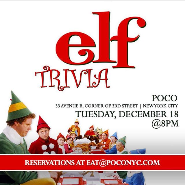 You can't miss this weeks trivia! This is one of our most popular and exciting nights during the holidays! Come in and test your Christmas spirit! #Elftrivia  #poconyc #triviaad