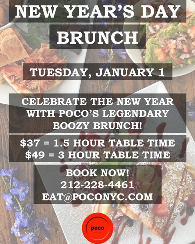 WE. ARE . OPEN. Come celebrate the first day of 2019 with us! #bottomlessbrunch #poconyc