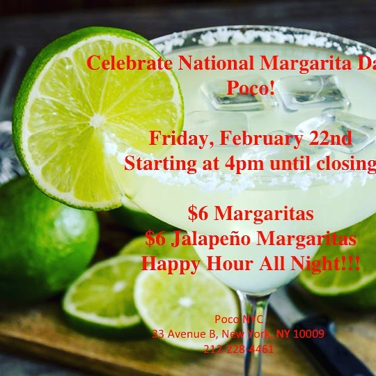 It's National Margarita Day, Friday February 22!  All day long the margaritas will be flowing starting with our Legendary Brunch.  Margaritas included.  Try my favorite.  Strawberry Jalapeño.  Message me for a reservation.  #brunch #fridayBrunch #thankgoditsfriday🙌 #margaritas #tequila