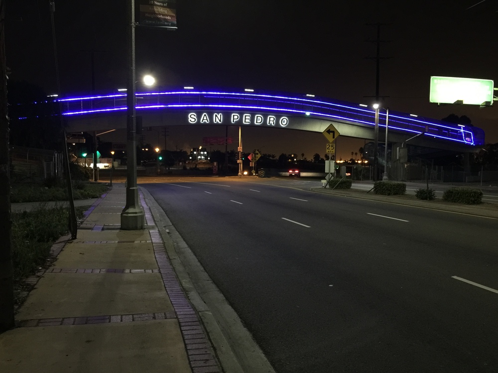 Gaffey Street Pedestrian Bridge Lighting 2014