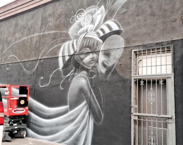 Western Avenue Mural Painting 2014