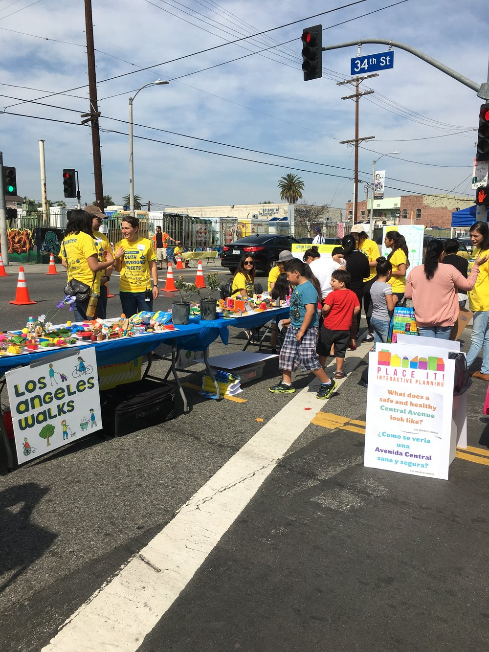 Youth Envisioned Streets Central Avenue, South LA A youth‑driven Complete Streets pop‑up event on Central Avenue featuring healthy eating workshops, community gardens, and physical activity.