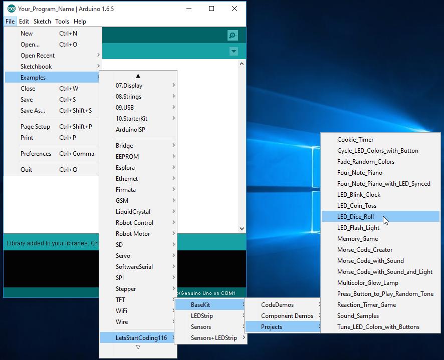 Lets-Start-Coding-Windows10-setup-examples