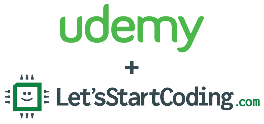 Udemy_and_Let's_Start_Coding_logos