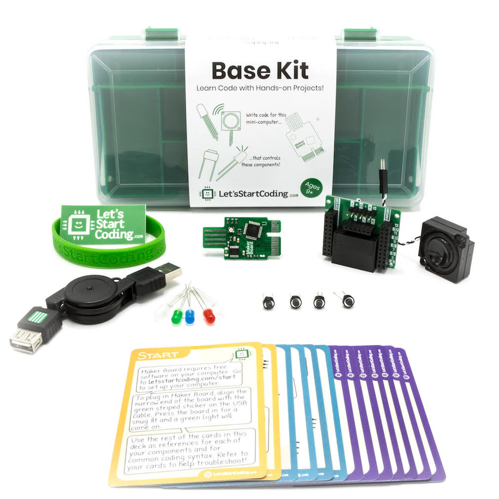 Base Kits will be loaned out to teachers who apply and are accepted for the free training course.