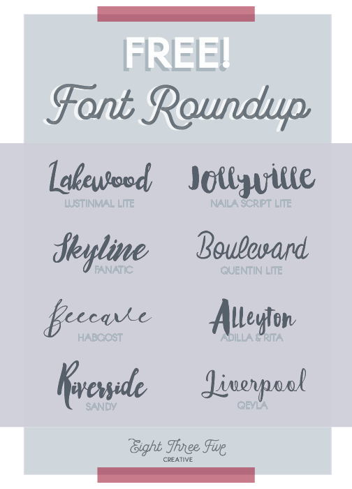 The best FREE! script fonts for bloggers and creatives. Some messy scripts, some girly fonts - all awesome fonts.