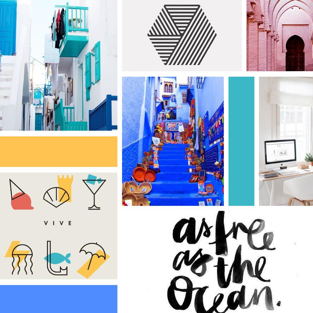 Mood Board Tiffany Eat World Travel Blogger Branding