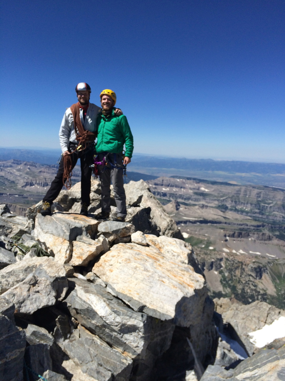 Top of the Grand Teton, 13,770! Third summit of the Traverse, and my second highest summit ever!