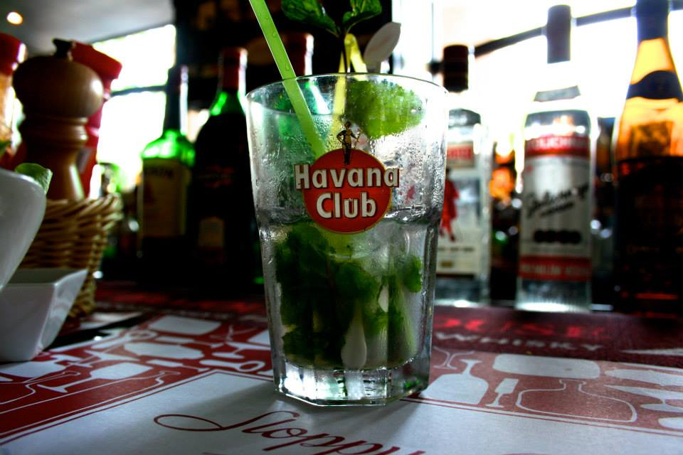 Tourist restaurants were full of high quality foods and drinks, including many imported ones. A Havana Club mojito would cost around $3, and local beers cost $1. This particular restaurant hat Jack Daniels somehow!