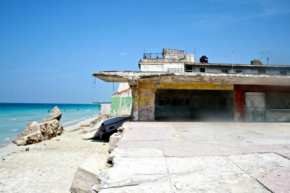 There were several remains of resorts on the beach, including this one which was from before the revolution.