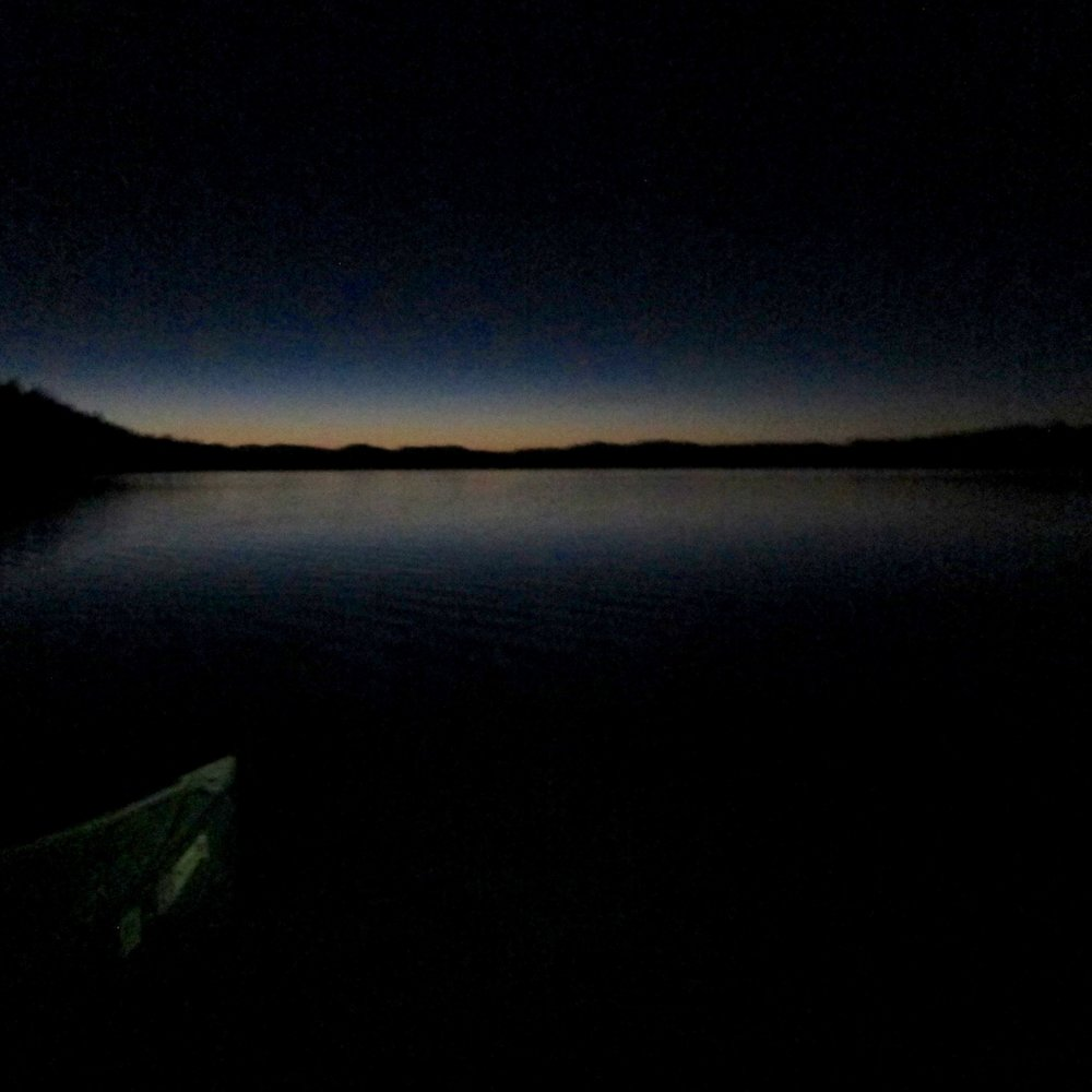 Looking back over Leigh Lake, at around 5:30am.