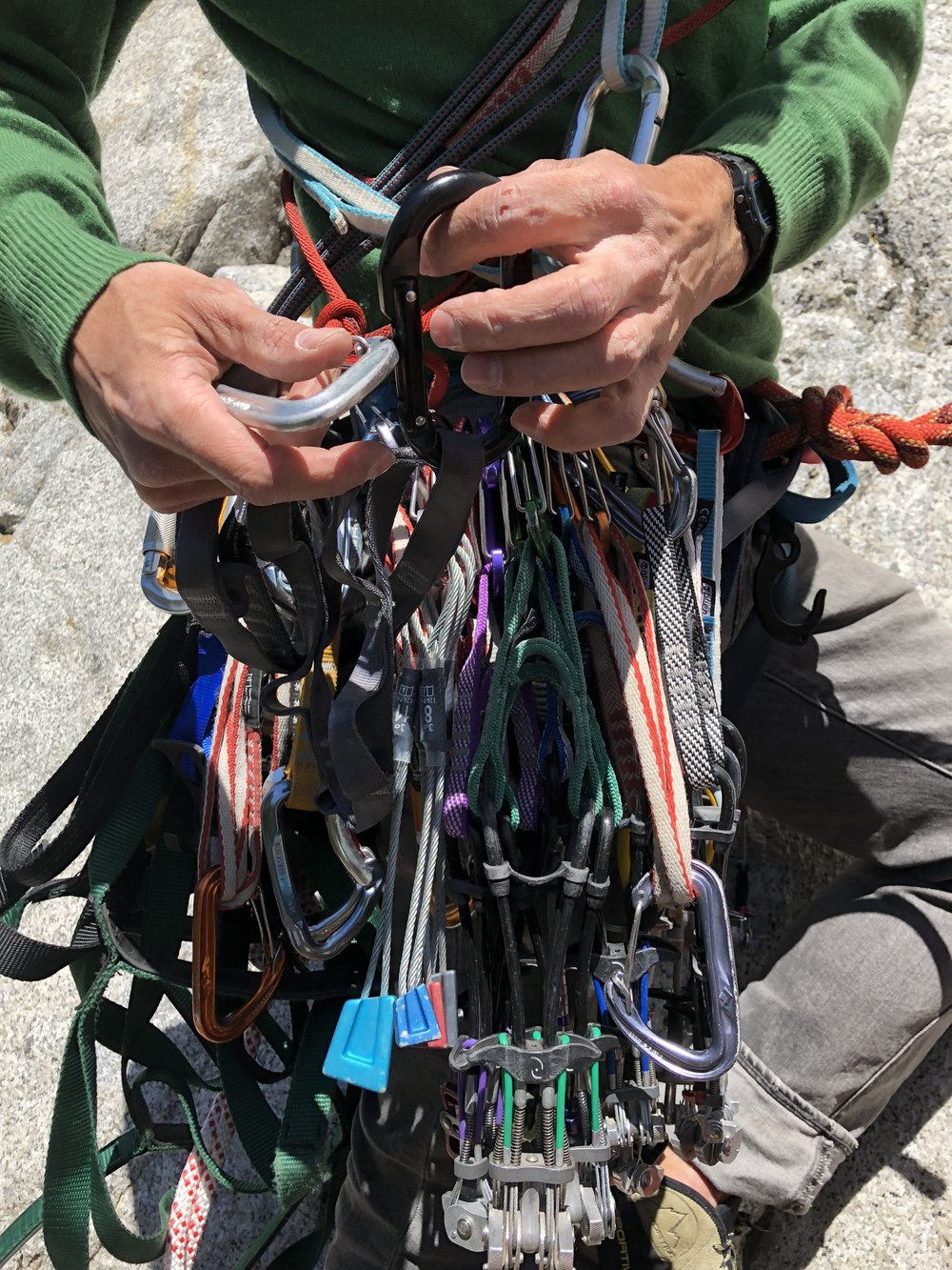 The rack was a bit bigger than what we use at the Gunks.