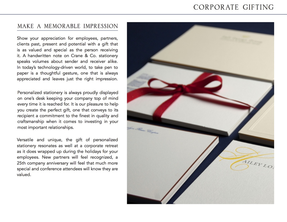Corporate Gifting Brochure